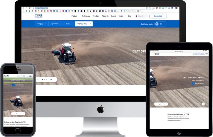 Ceat Website Screenshot